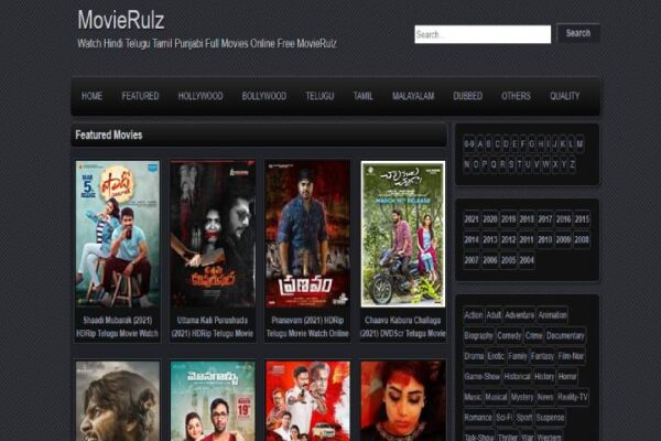 Movierulz 1234 website – Watch Latest HD Movies From 4Movierulz [2021]